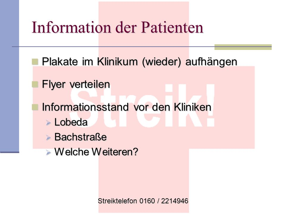 Information der Patienten