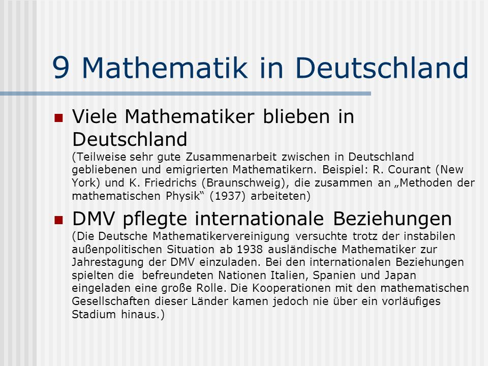 9 Mathematik in Deutschland