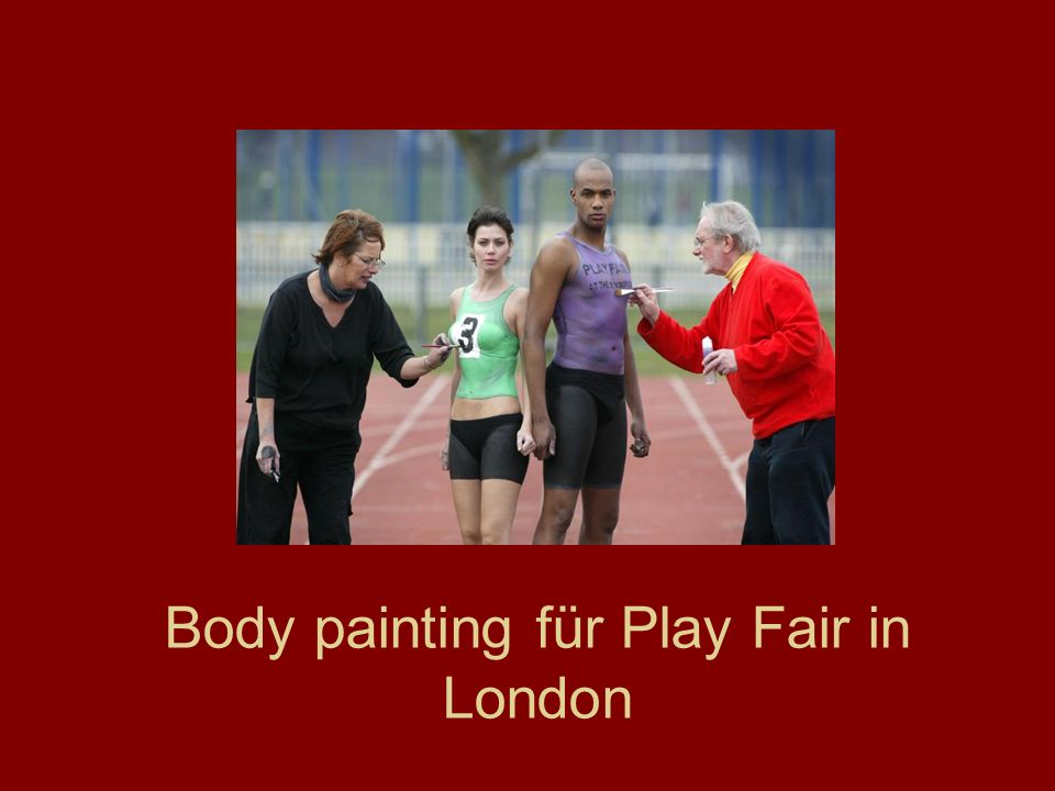 Body painting für Play Fair in London
