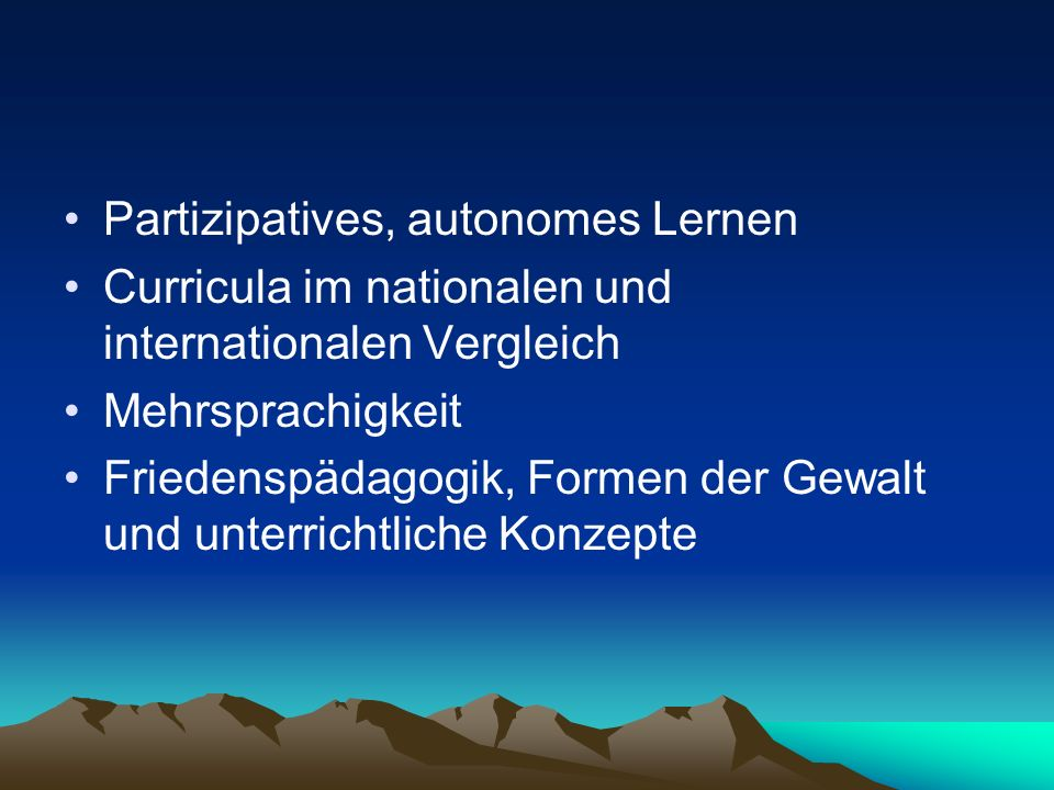 Partizipatives, autonomes Lernen