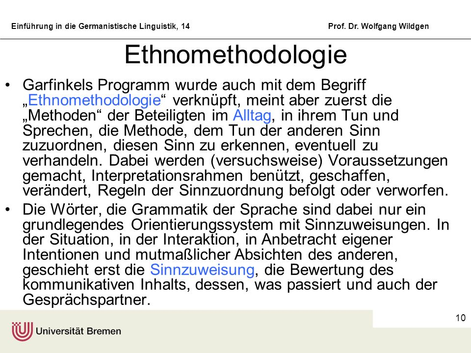 Ethnomethodologie