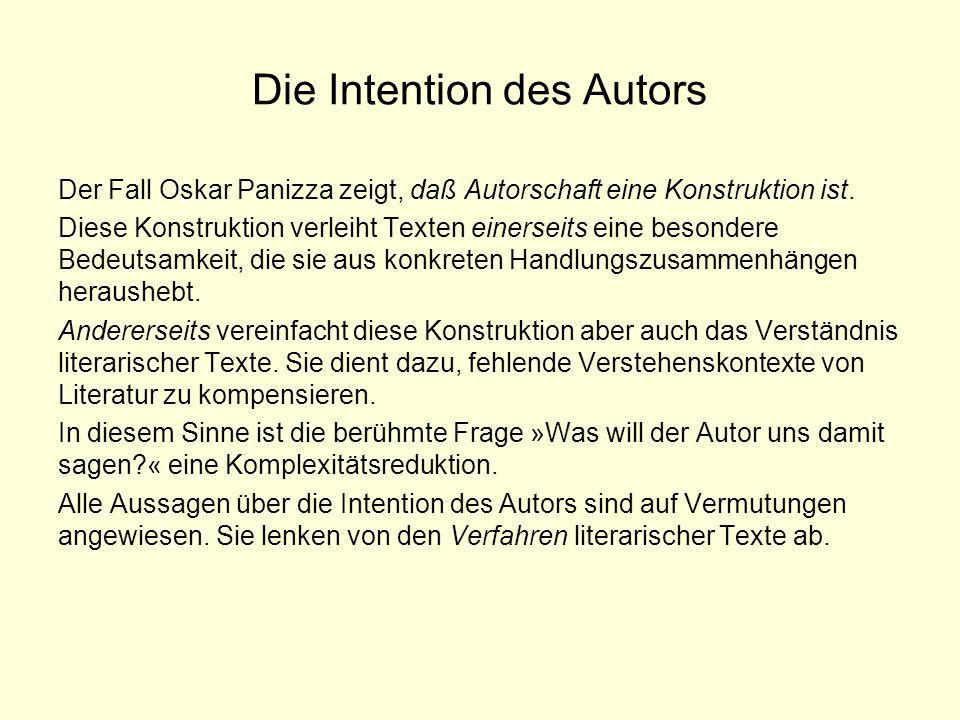 Die Intention des Autors