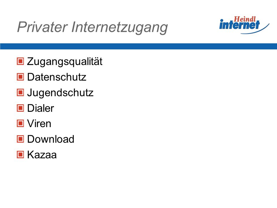 Privater Internetzugang