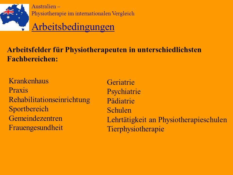 Australien – Physiotherapie im internationalen Vergleich