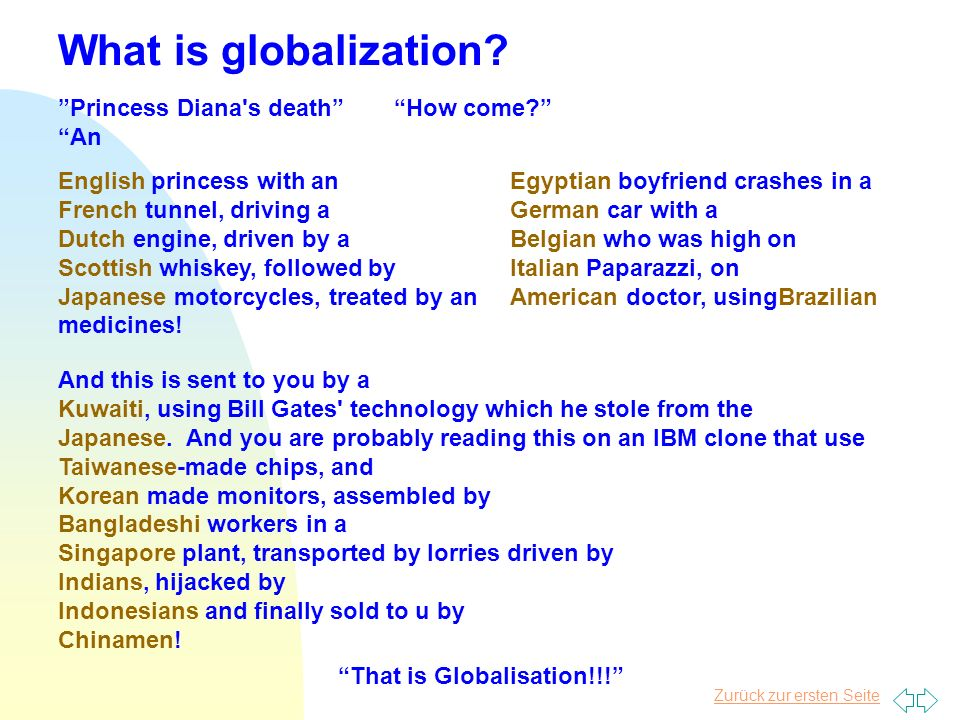 What is globalization Princess Diana s death How come An