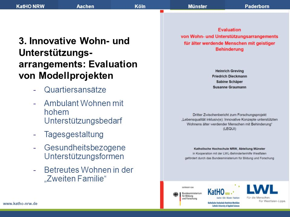 arrangements: Evaluation von Modellprojekten