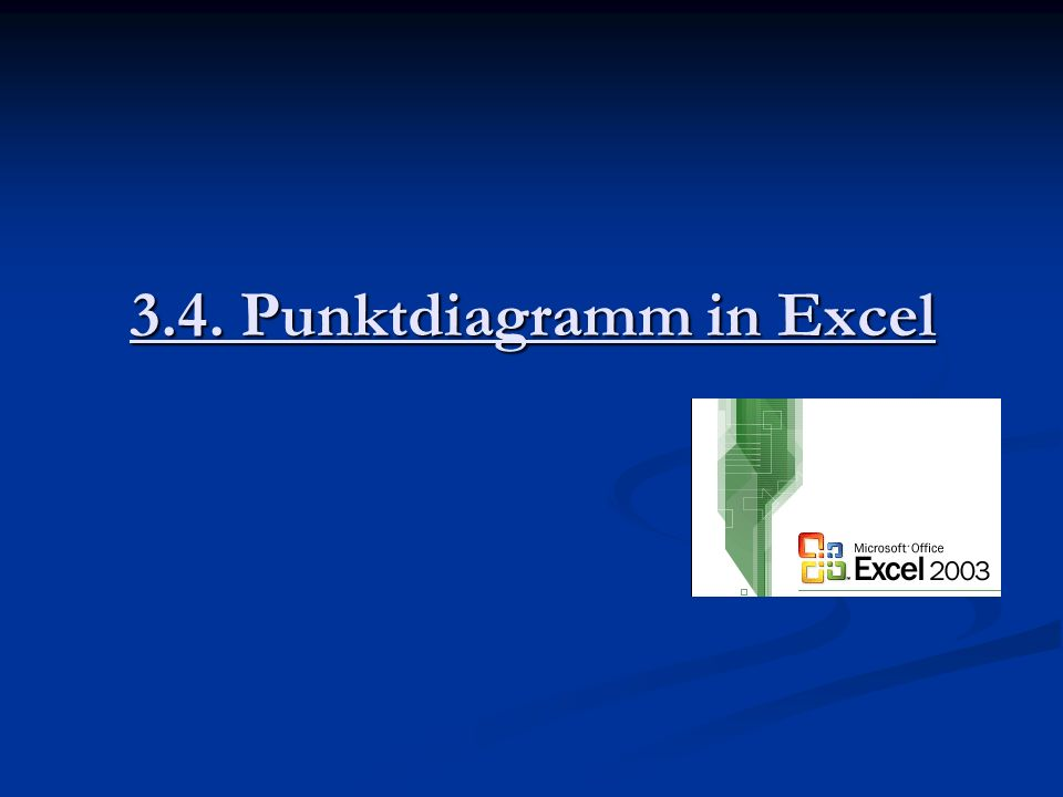 3.4. Punktdiagramm in Excel