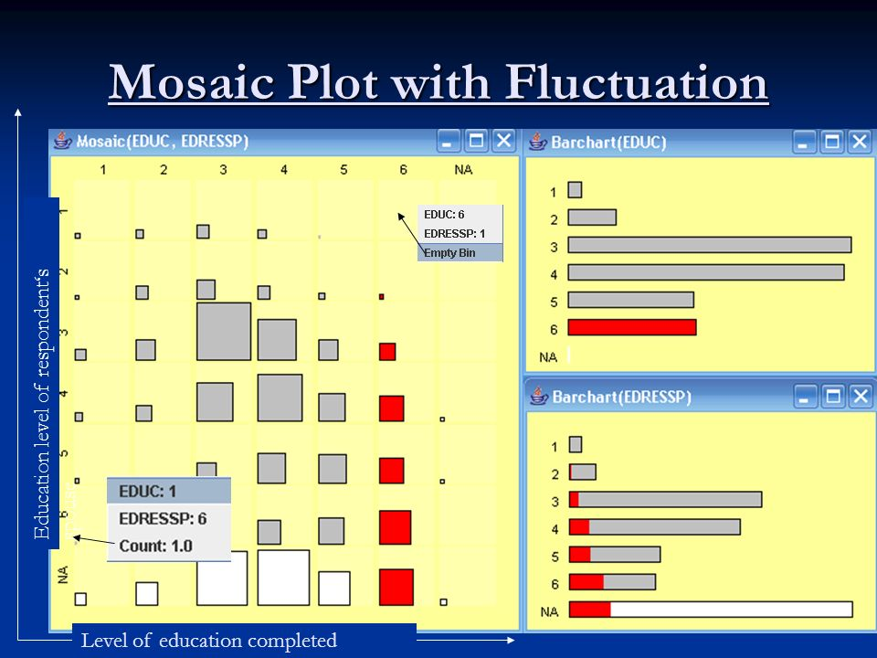 Mosaic Plot with Fluctuation