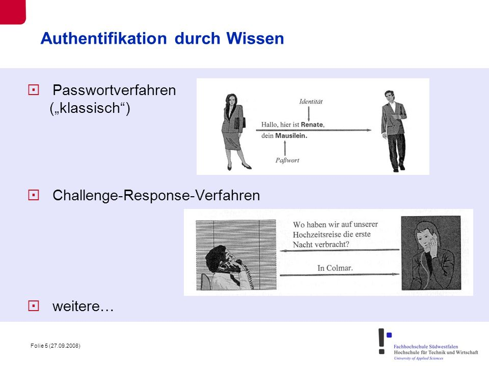 Authentifikation durch Wissen