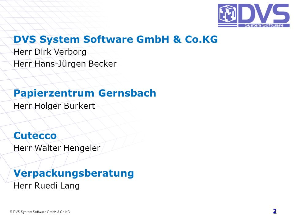 DVS System Software GmbH & Co.KG