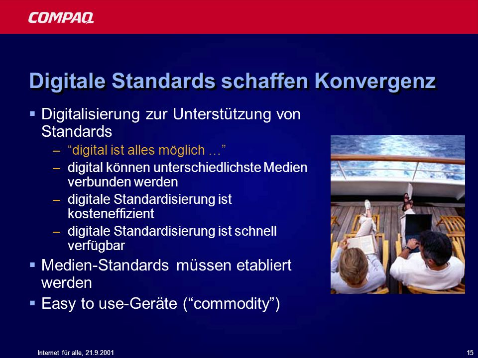 Digitale Standards schaffen Konvergenz