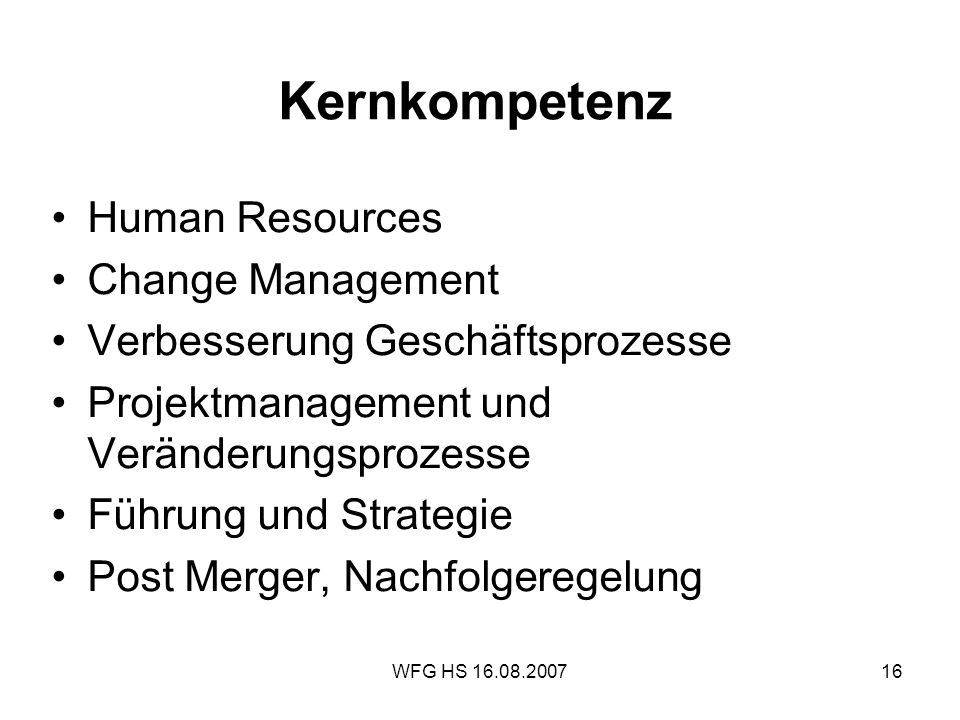 Kernkompetenz Human Resources Change Management