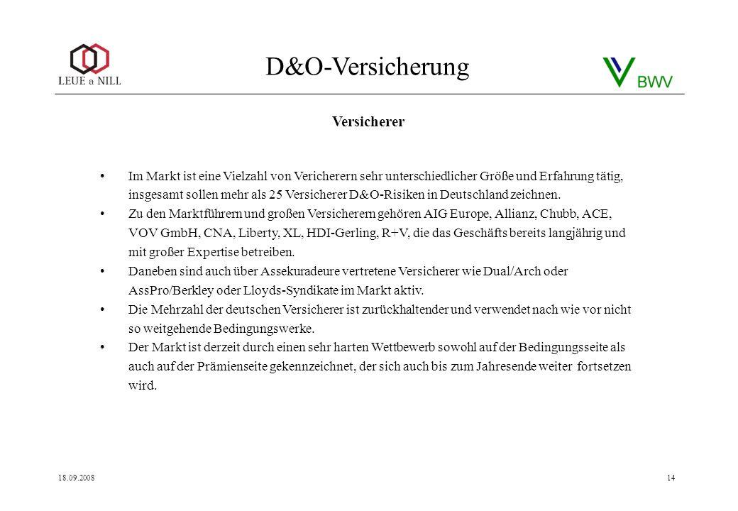 D&O-Versicherung im Vertrieb - ppt herunterladen