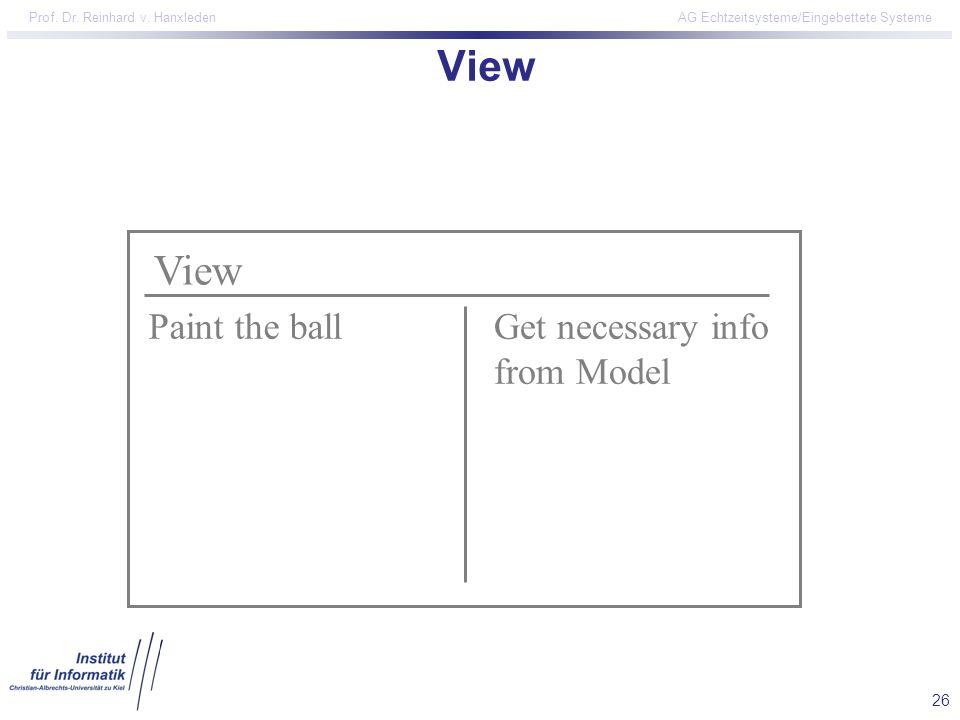 View View Paint the ball Get necessary info from Model