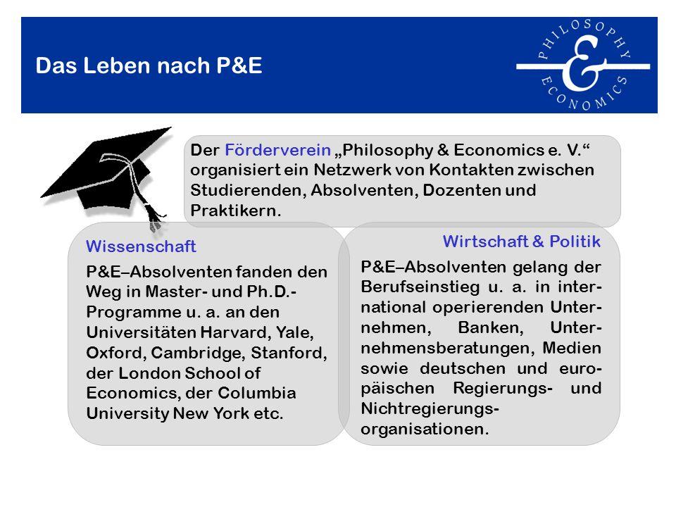 Der Studiengang Philosophy & Economics an der Universität Bayreuth ...
