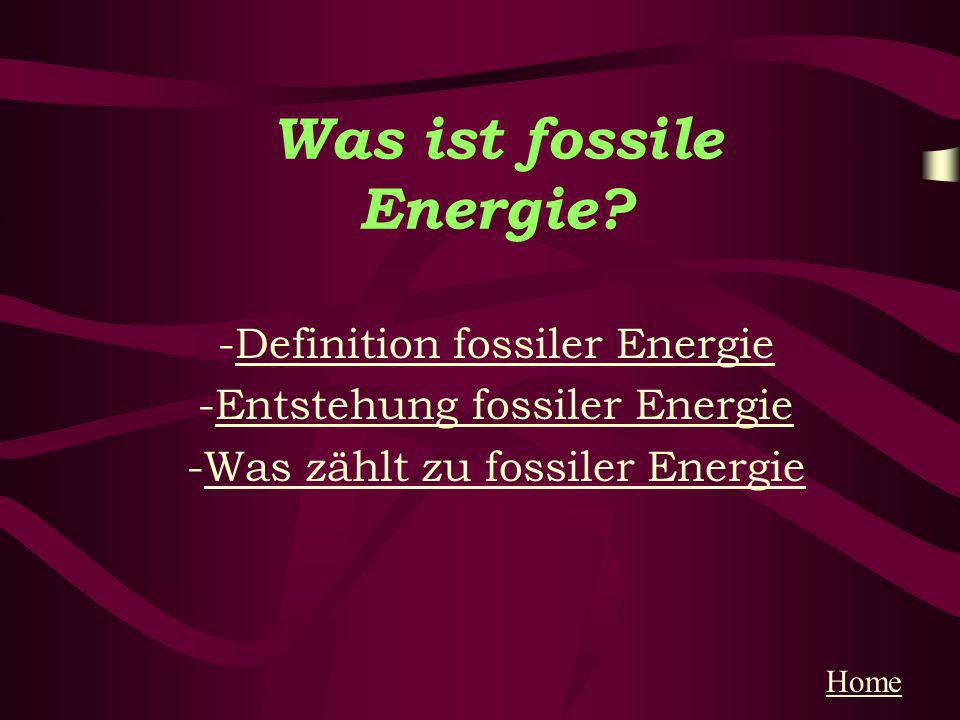 Was ist fossile Energie