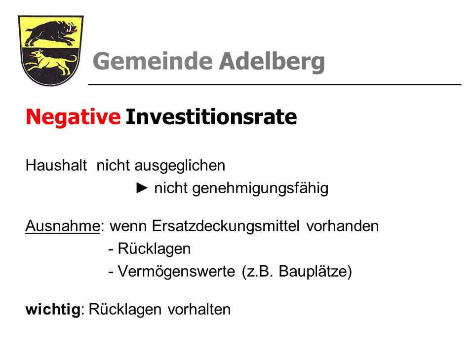 Negative Investitionsrate