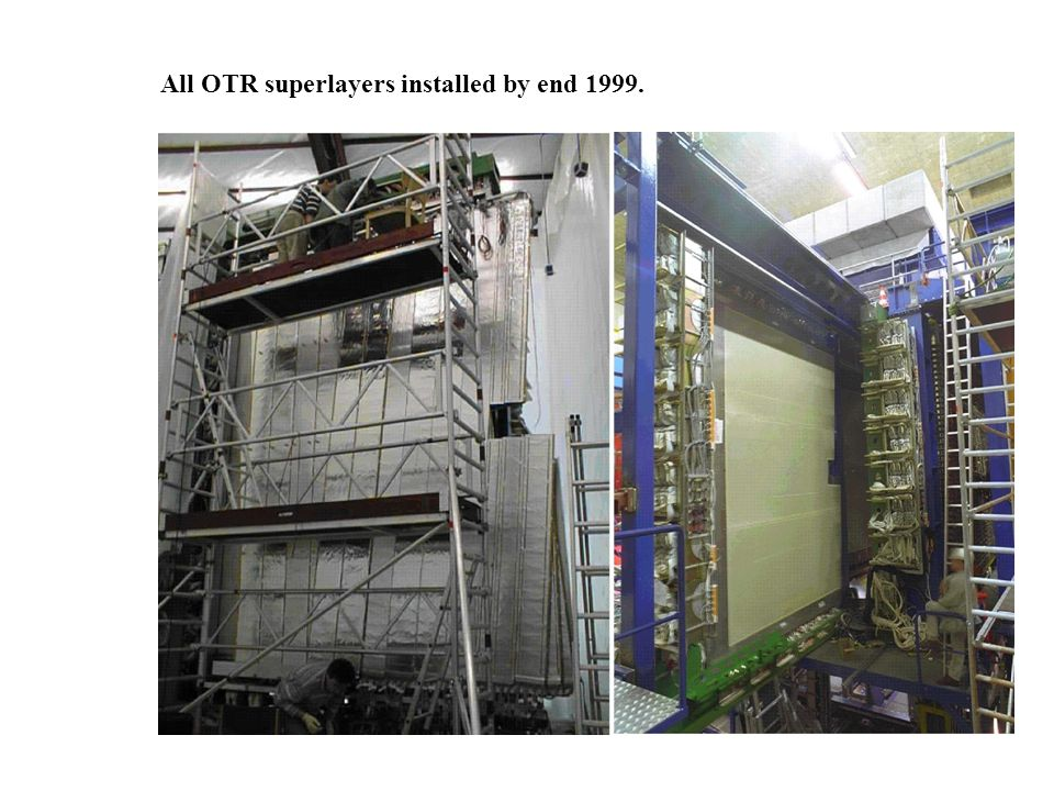 All OTR superlayers installed by end 1999.