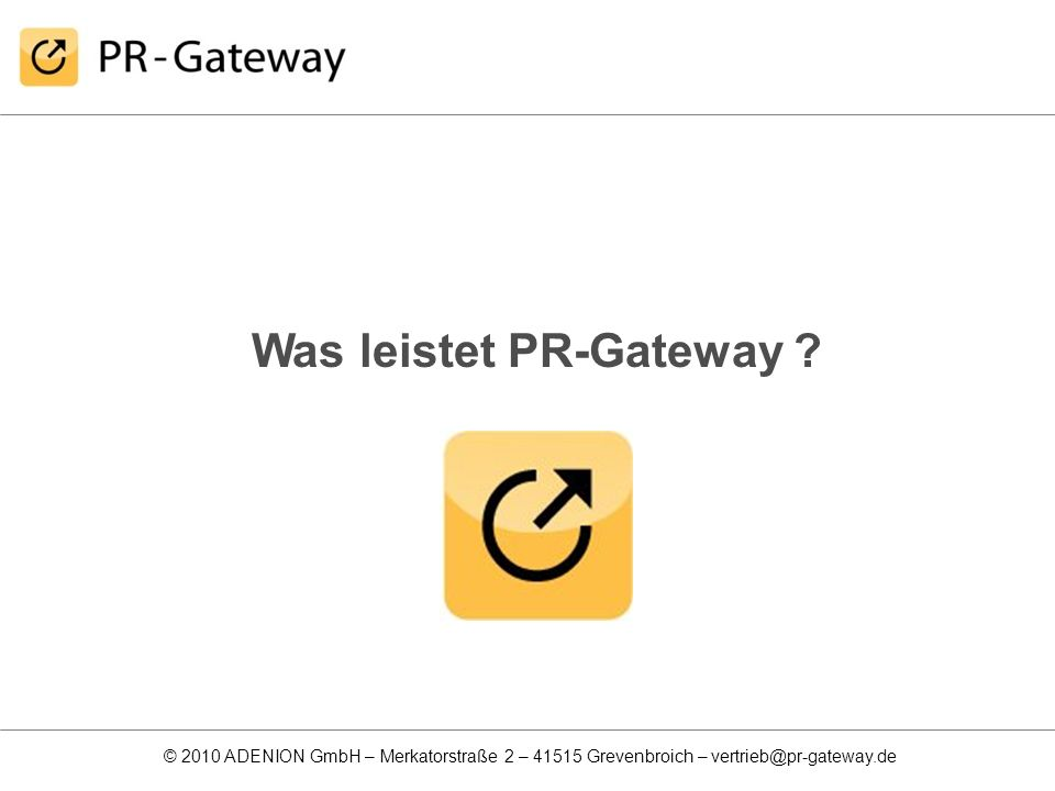 Was leistet PR-Gateway
