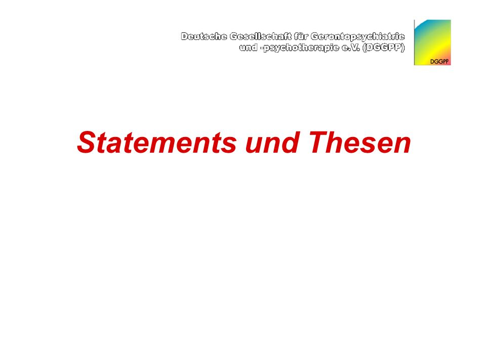 Statements und Thesen