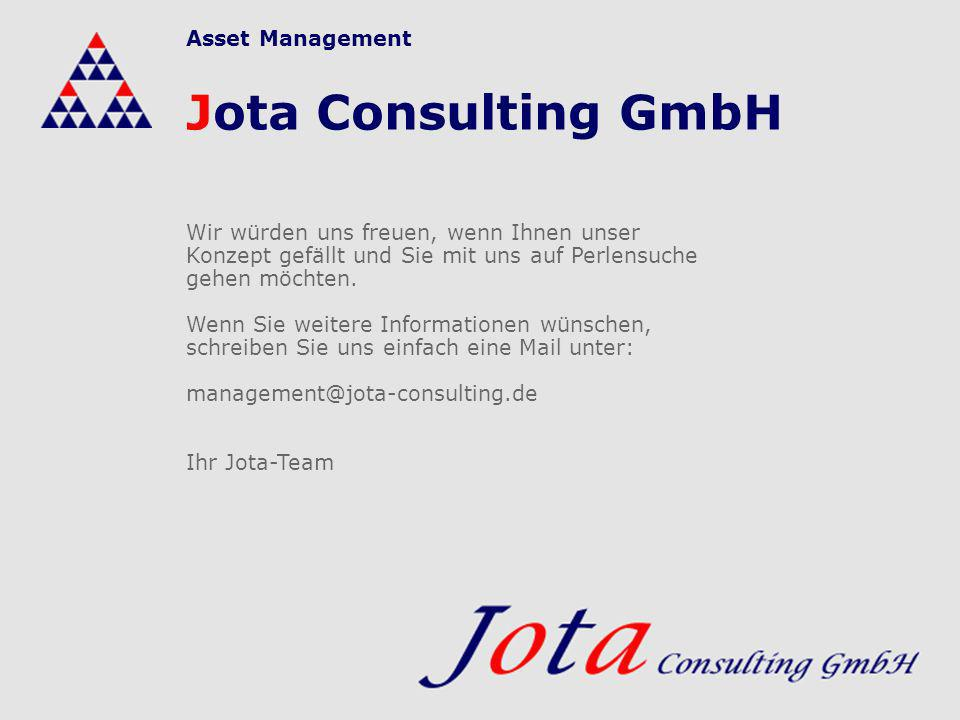 Jota Consulting GmbH Asset Management