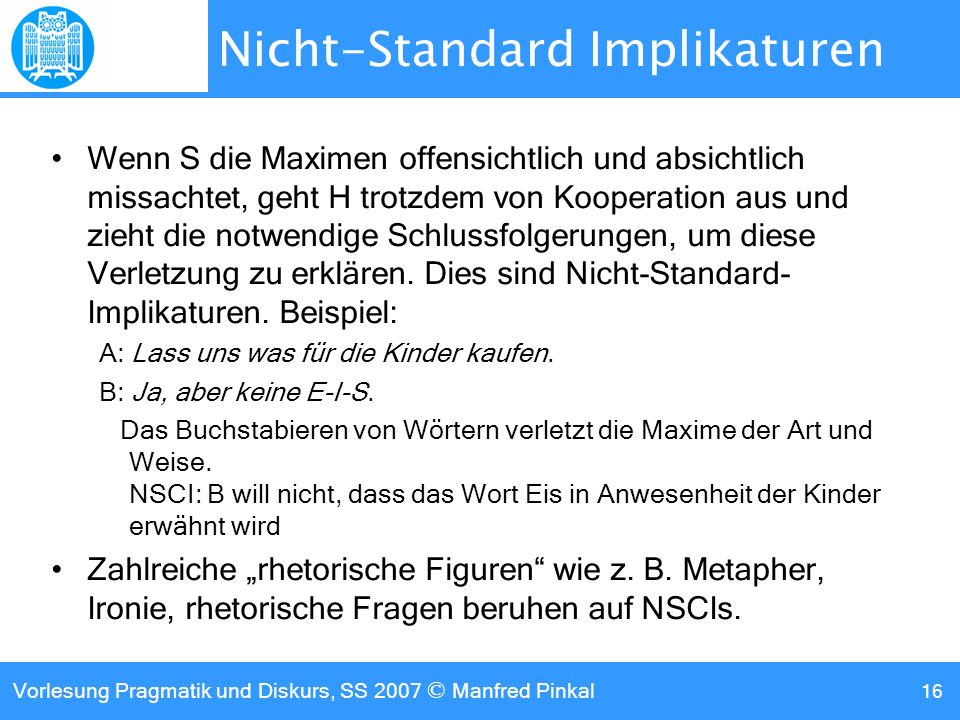 Nicht-Standard Implikaturen