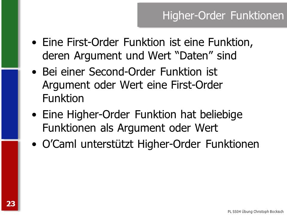 Higher-Order Funktionen