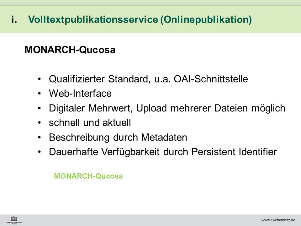 Volltextpublikationsservice (Onlinepublikation)
