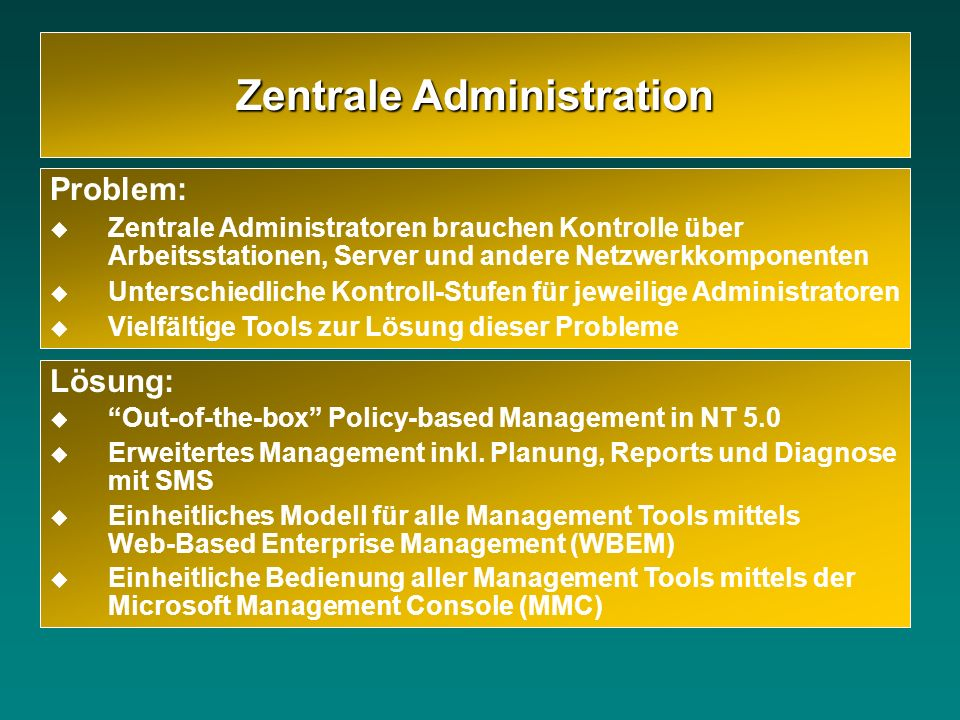Zentrale Administration