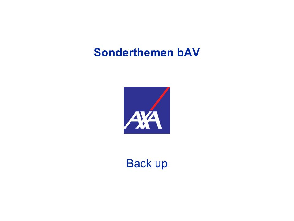 Sonderthemen bAV Back up