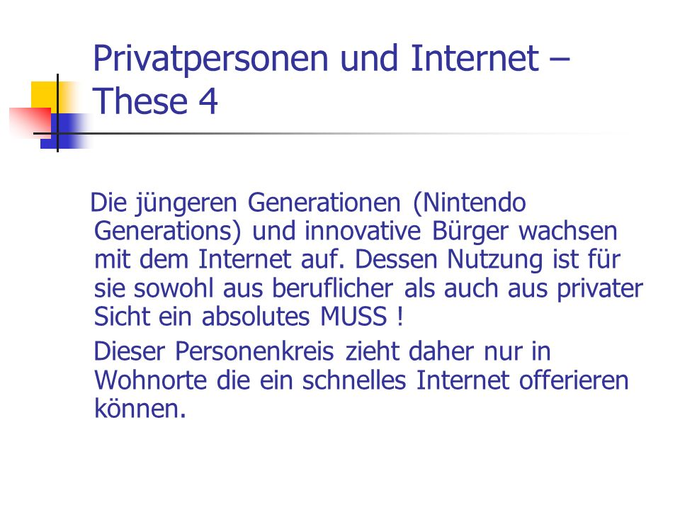Privatpersonen und Internet –These 4