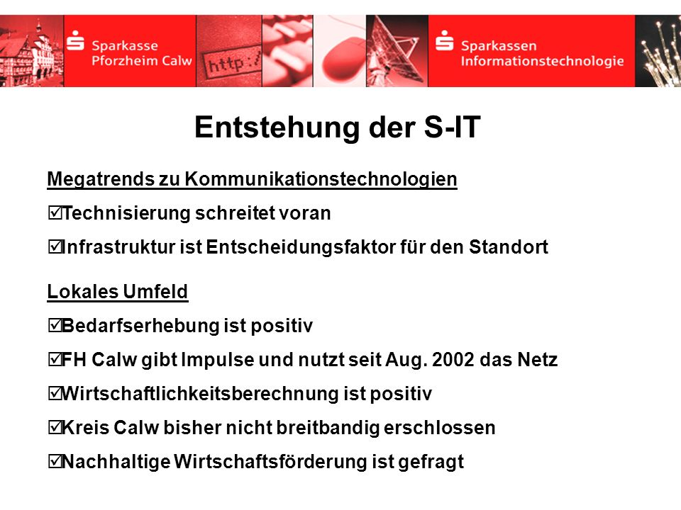 Entstehung der S-IT Megatrends zu Kommunikationstechnologien
