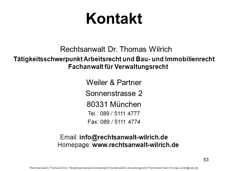 Rechtsanwalt Dr. Thomas Wilrich