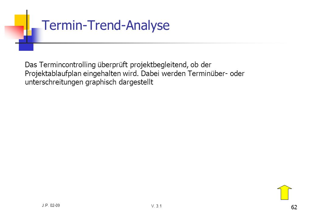Termin-Trend-Analyse