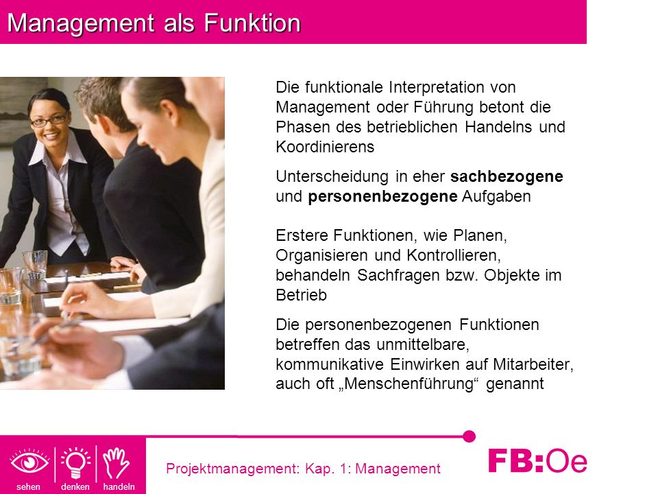 Management als Funktion