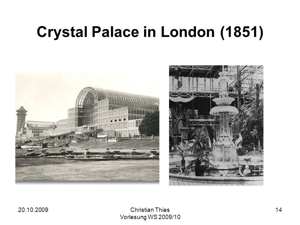 Crystal Palace in London (1851)