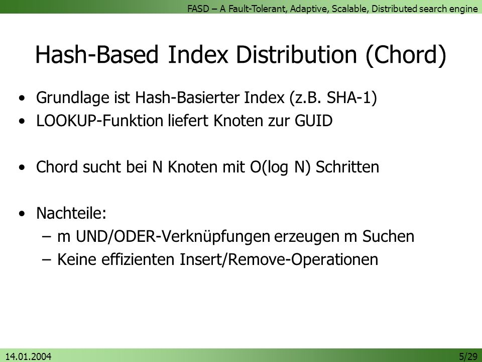 Hash-Based Index Distribution (Chord)