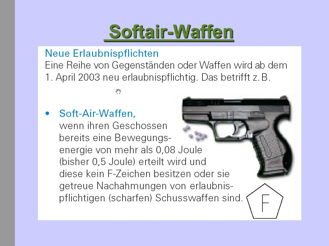 Softair-Waffen