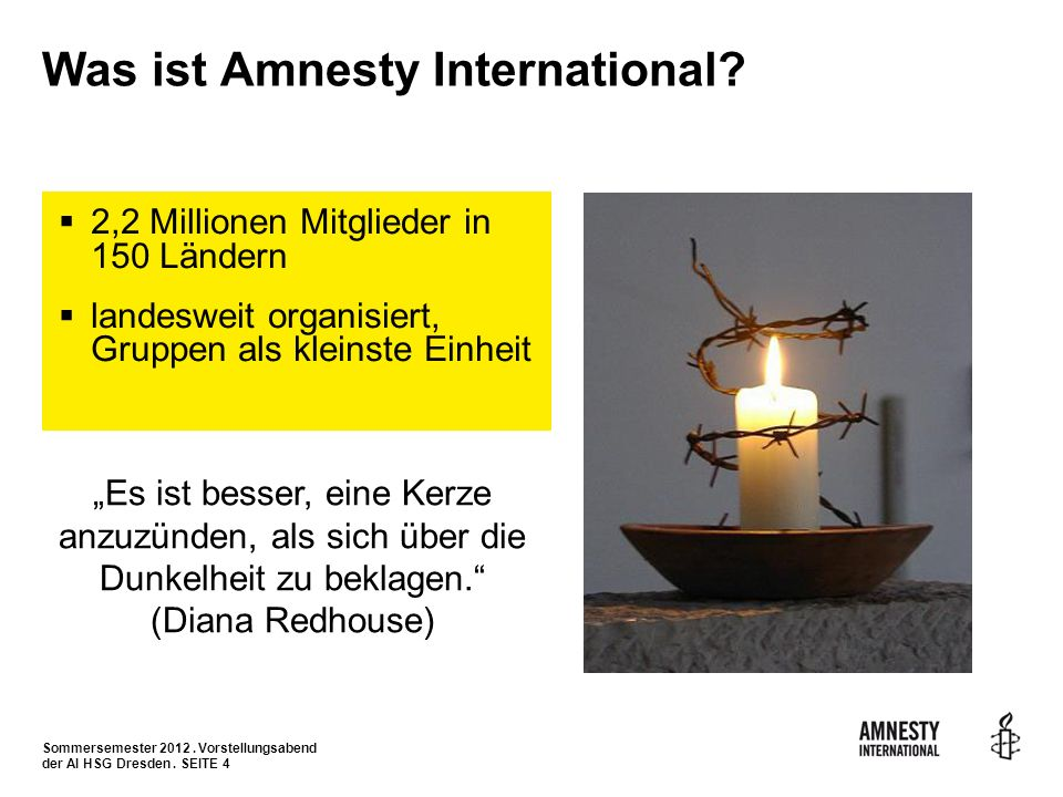 Was ist Amnesty International