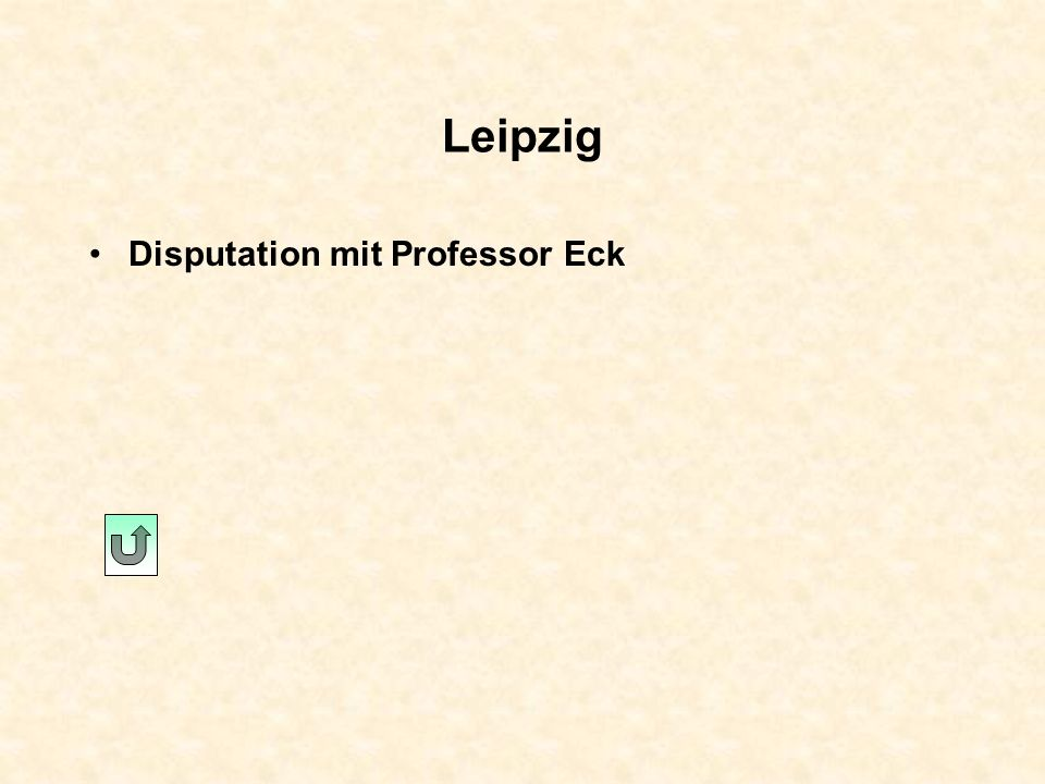 Leipzig Disputation mit Professor Eck