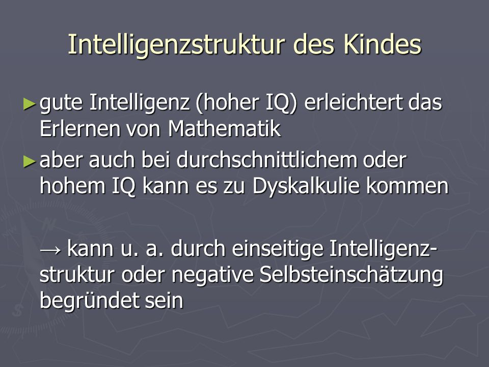 Intelligenzstruktur des Kindes