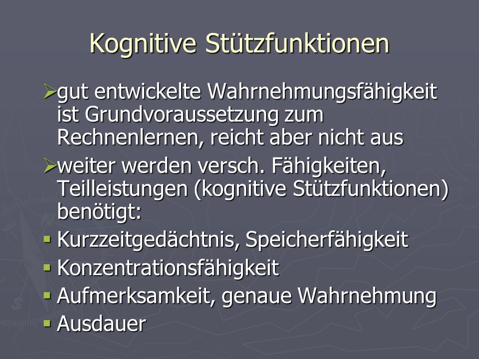 Kognitive Stützfunktionen