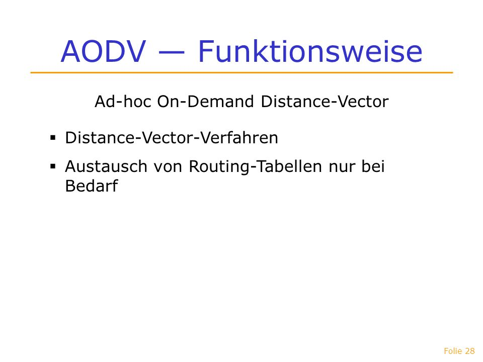 Ad-hoc On-Demand Distance-Vector