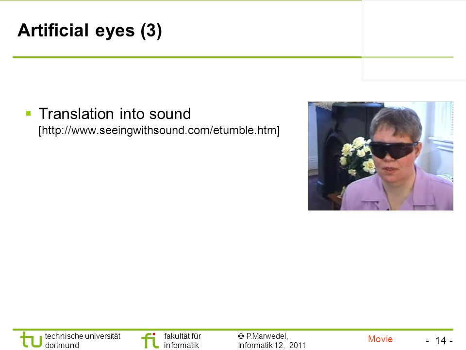 Artificial eyes (3) Translation into sound [  Movie