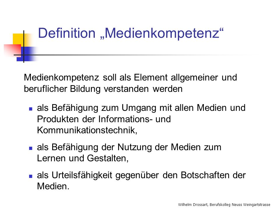 "Definition ""Medienkompetenz"