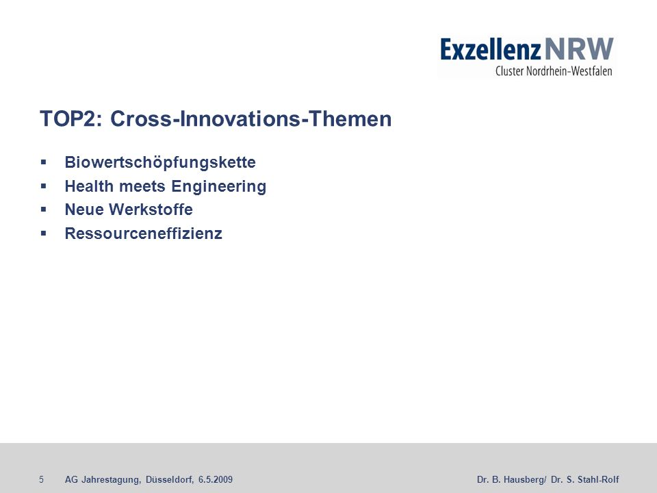 TOP2: Cross-Innovations-Themen