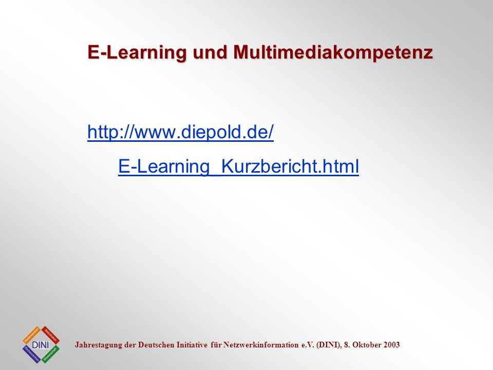 E-Learning und Multimediakompetenz