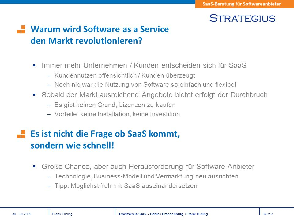 Warum wird Software as a Service den Markt revolutionieren