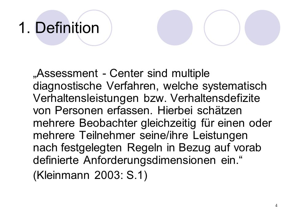 1. Definition (Kleinmann 2003: S.1)