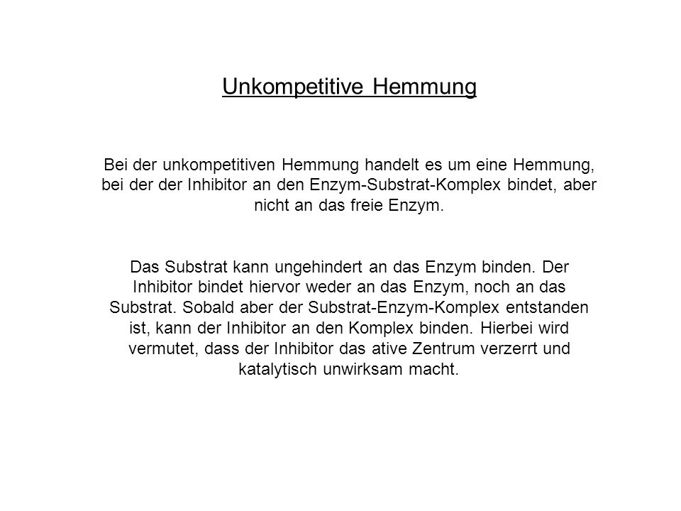 Unkompetitive Hemmung